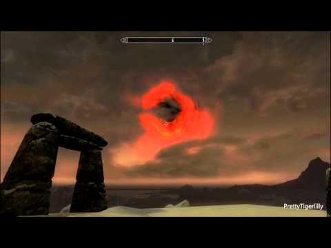 Skyrim-Dawnguard: Testing Bloodcursed and Sunhallowed arrows on the Sun with Auriel's Bow
