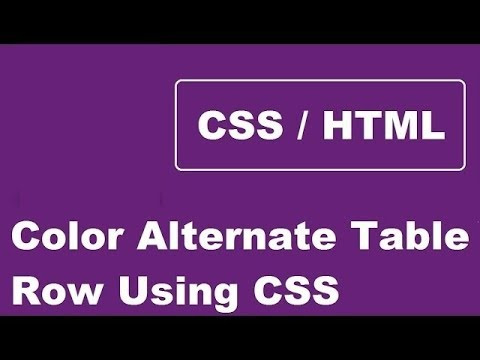 How To Color Alternate Table Row Using CSS