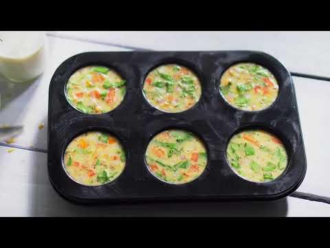EGG MUFFINS | TASTY BREAKFAST | EASY BREAKFAST | DELICIOUS BREAKFAST | 4K | iPhone X | Tasty Foods