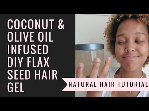 DIY Coconut-Olive Oil Infused Flax Seed Hair Gel