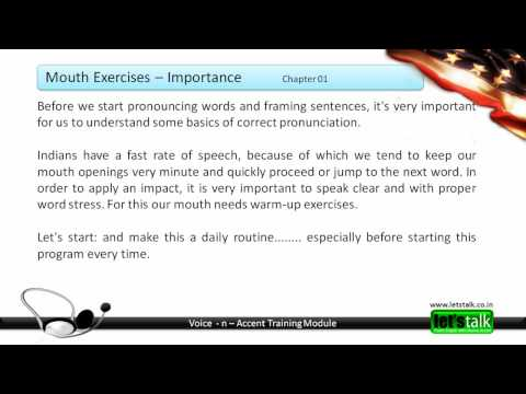 Accent Training - Neutral Accent & Mouth / Jaw Exercises
