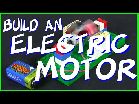 How to make an electric motor from Legos for Science Fair Project