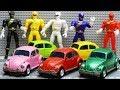 Transformers Stop Motion Bumblebee Barricade Power Rangers Movie Repaint Beetle Car Robot Toys