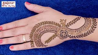 How To apply PROFESSIONAL STYLE mehndi design in 3 minutes!!! henna tattoo #161 @ jaipurthepinkcity