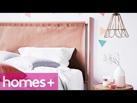 DIY PROJECT: Faux leather bedhead - homes+
