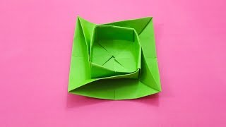 By Creative Paper Crafts Origami Round Twist Box Bowl Tutorial