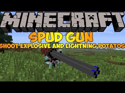 Minecraft Mods: SPUD GUN MOD (1.6.4) - SHOOT POTATOES!