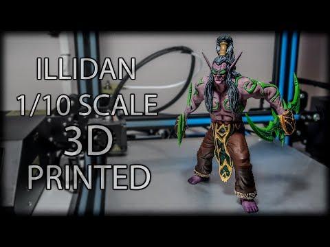 3D Print and Paint Illidan Stormrage Miniature