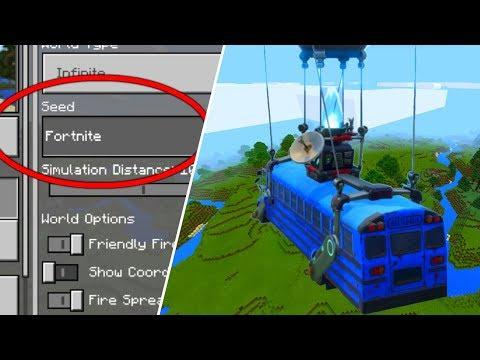 Realistic FORTNITE World in Minecraft! (Fortnite in MCPE)