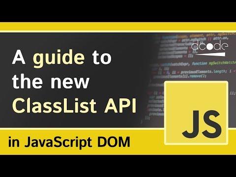 Class List (classList) Property - Javascript DOM