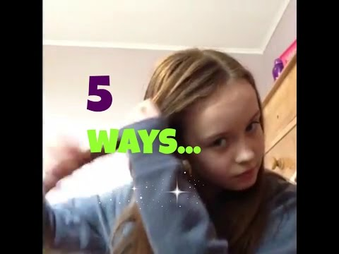 5 ways to get your fringe out of your face!!