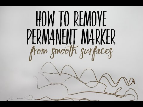 How To Remove Permanent Marker From Smooth Surfaces