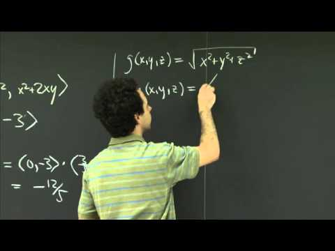 Gradient and directional derivative | MIT 18.02SC Multivariable Calculus, Fall 2010