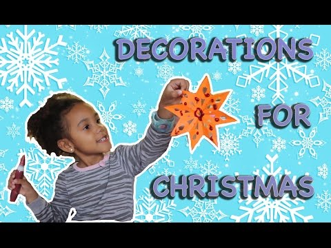 Christmas Snowflake DIY tutorial! How to make  Paper Snowflakes with kids! Paper Crafts