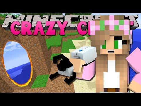 Minecraft - CRAZY CRAFT 3.0 - LITTLE KELLY PORTAL GUN FUN!