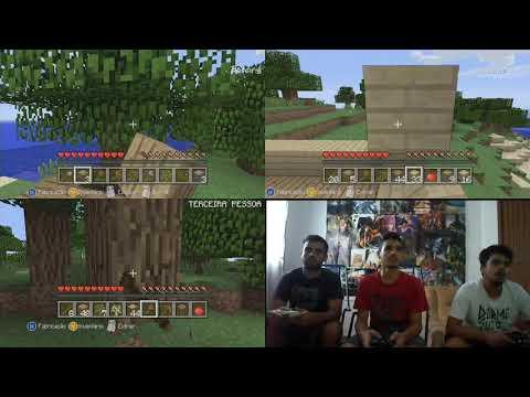 Minecraft xbox 360 Edition : Desafio [ 3 Players]