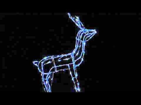 Solar LED Christmas Lights - Standing Reindeer