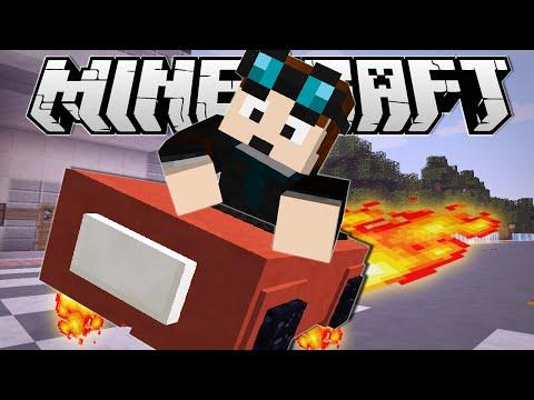 Minecraft | DRIVING A HOVERCAR!! | Custom Command