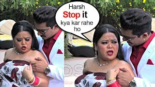 Bharti Singh SHOUTS On Haarsh Limbachiyaa During Their 1st WEDDING Anniversary Celebrations