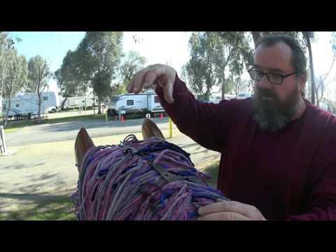 Installing a Giant Rocking Unicorn Mane