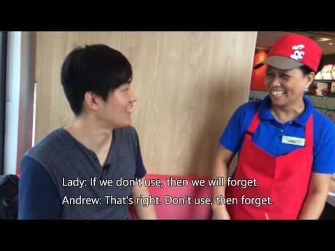 Jollibee crew speaking in Korean