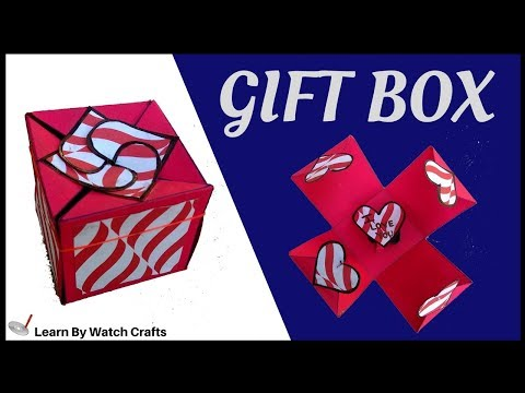 Make a Gift Box sealed with hearts at Your Home (DIY)   Learn By Watch