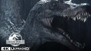 The Spinosaurus Attacks Dr. Alan Grant's Boat in 4K HDR   Jurassic Park III
