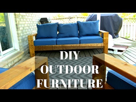 DIY Outdoor Couch & Chairs | CHEAP & EASY HACK