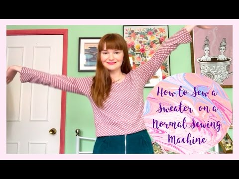 How to Sew a Cropped Sweater on a Regular Sewing Machine: Pattern Hack