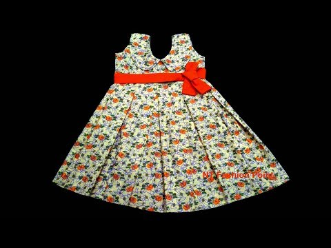 DIY kseniya kids summer girls baby dress | How to learn kids summer baby dress