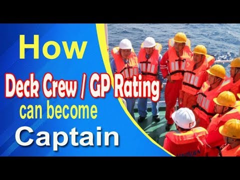 How Deck Crew / GP Rating can become Captain? Best way to follow.
