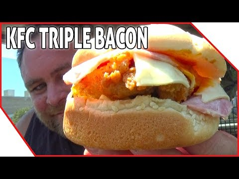 New KFC Triple Bacon Burger Review - Australia's First Review 🍔