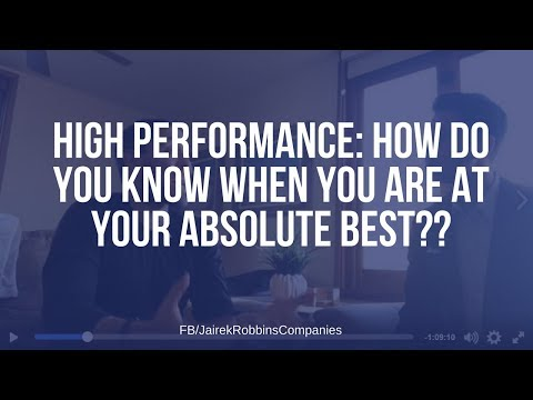 FB Live Repost: HIGH PERFORMANCE: How do you know when you are at your absolute best??