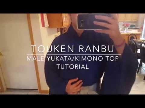 Male Yukata/Kimono Top Tutorial