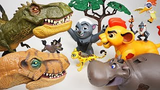 Hyena brought huge dinosaurs! Don't worry! Super Lion Guard transform! - DuDuPopTOY