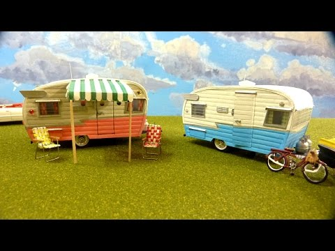 Classic Shasta Airflyte 16 Trailer In O Scale - Complete Scratch Build
