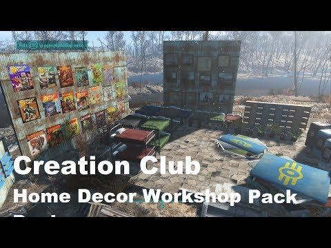 Fallout 4 Creation Club Home Decor Workshop Pack! (PS4) 85 Decorations!