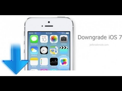 Down grading from ios7 to 6.1.3 on the iphones