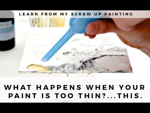 How to Make a Fluid Acrylic Painting...and Ruin It: Flow Acrylic Tutorial & Lessons Learned