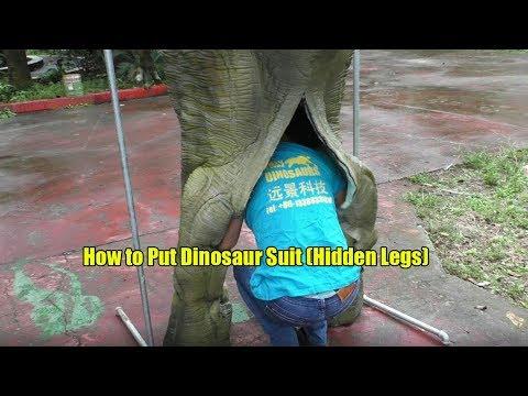 How to Dress Walking Dinosaur Costume