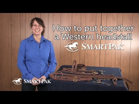 How to put together a Western headstall
