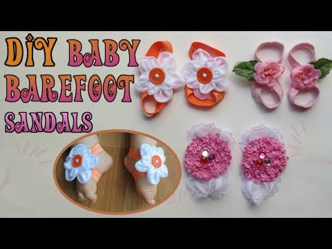 How to Make Baby Barefoot Sandals|DIY Pretty Cute Sandals for Baby