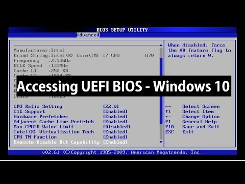 How to Access UEFI BIOS Setup on Windows 10