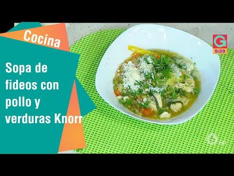 Receta: Sopa de fideos con pollo y verduras Knorr