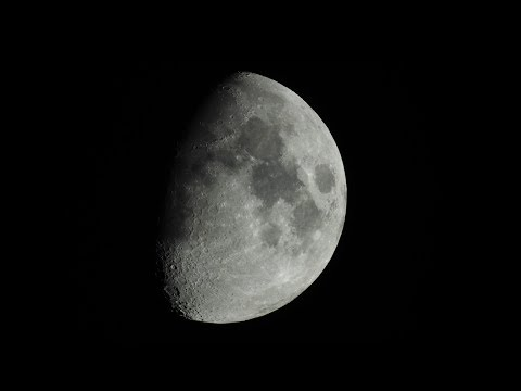 Close up View of the Moon | Shot on Nikon Coolpix P900 at 2000mm in 1080p/60p | May 24, 2018