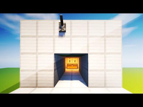 2X2 HIDDEN REDSTONE PISTON DOOR - Minecraft Redstone Tutorial (XBOX/PS4/PE/PC)