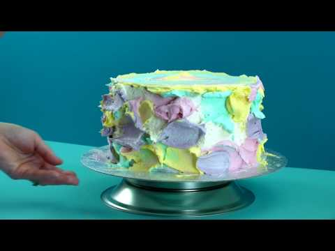 How to make WATERCOLOUR SPONGE CAKE recipe