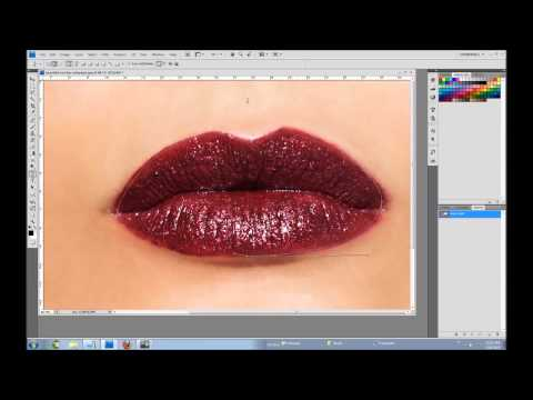 How to make lips for your second life avatar using photoshop pen tool