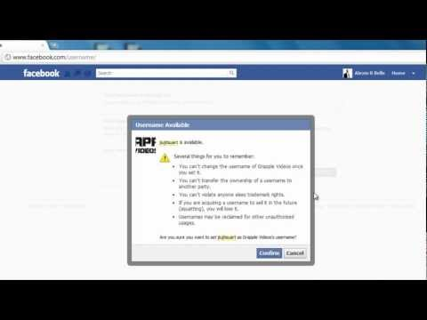 How to change your Facebook Username - Vanity URL