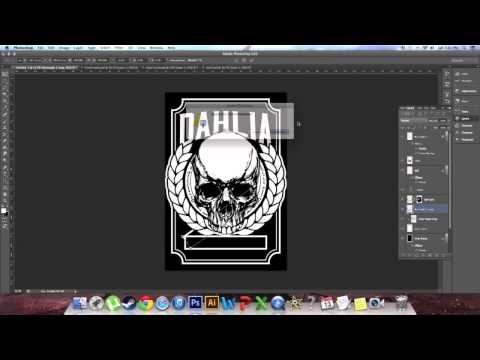 How To Design A Band Shirt part 1 of 2 - Photoshop Tutorial